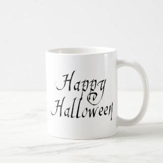 Pirate Scrawl Happy Halloween Classic White Coffee Mug