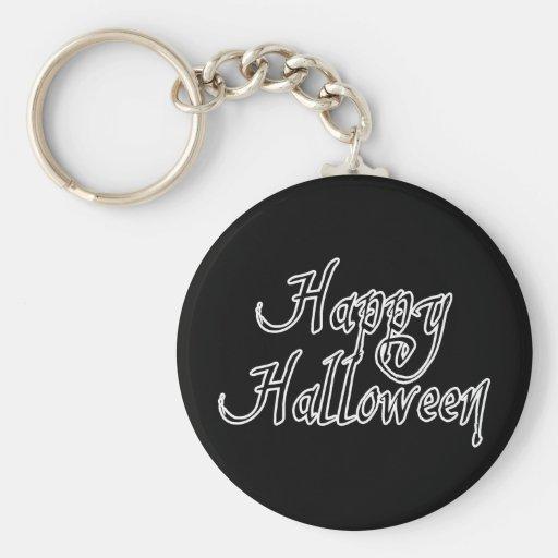 Pirate Scrawl Happy Halloween Keychains