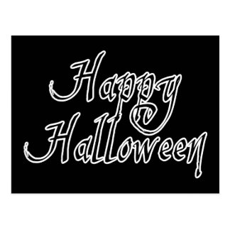 Pirate Scrawl Happy Halloween Postcard