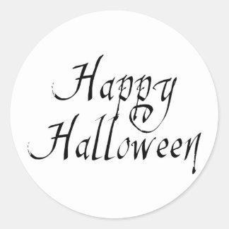 Pirate Scrawl Happy Halloween Stickers