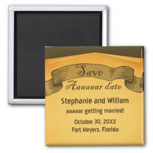Pirate Scroll Save the Date Magnet