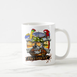 Pirate Scull and Parrots Mugs