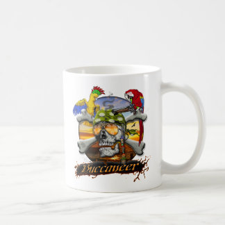 Pirate Scull and Parrots Mug