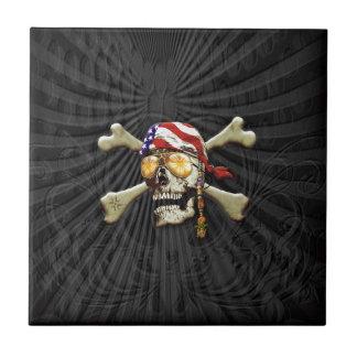 Pirate Scull Ceramic Tile