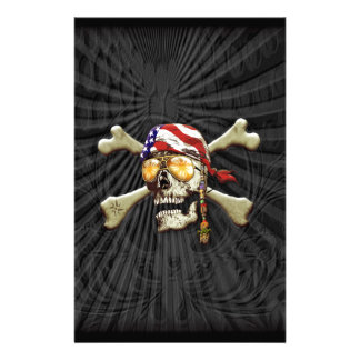Pirate Scull Stationery