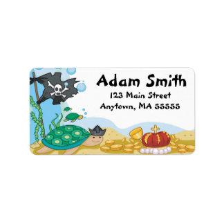 Pirate Sea Creatures Address Labels