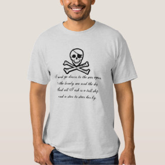 Pirate Seas Poetry Jolly Roger T-Shirt