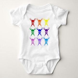 Pirate shears rainbow transparent 2009 baby bodysuit