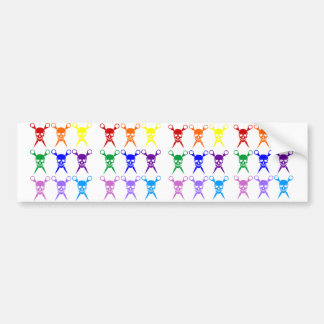 Pirate shears rainbow transparent 2009 bumper sticker