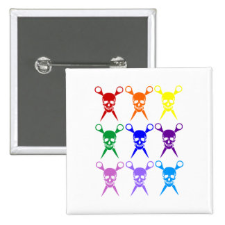 Pirate shears rainbow transparent 2009 pins