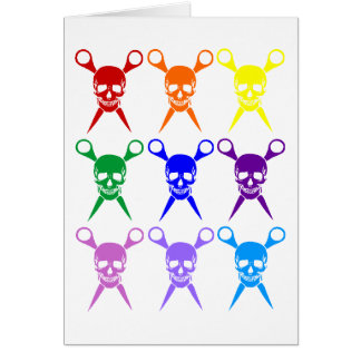 Pirate shears rainbow transparent 2009 greeting card