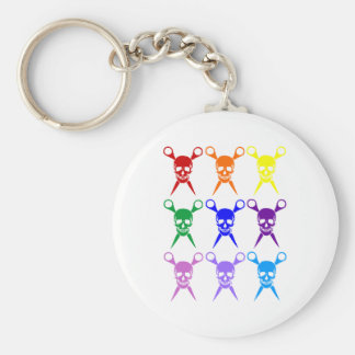 Pirate shears rainbow transparent 2009 keychain