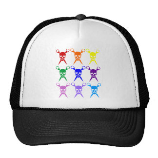 Pirate shears rainbow transparent 2009 mesh hats