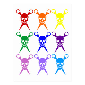 Pirate shears rainbow transparent 2009 post cards