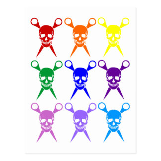 Pirate shears rainbow transparent 2009 postcards