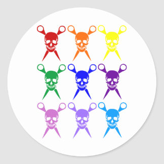 Pirate shears rainbow transparent 2009 stickers