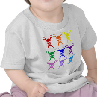 Pirate shears rainbow transparent 2009 t shirts