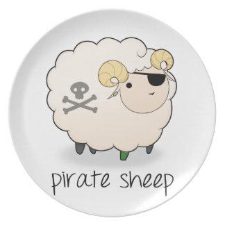 Pirate Sheep Melamine Plate