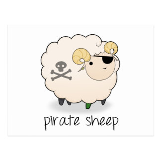 Pirate Sheep Post Cards
