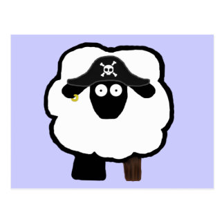 Pirate Sheep Postcards