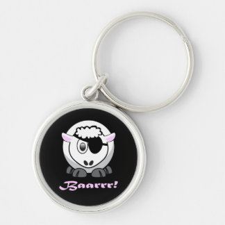 Pirate Sheep with Eyepatch Keychain