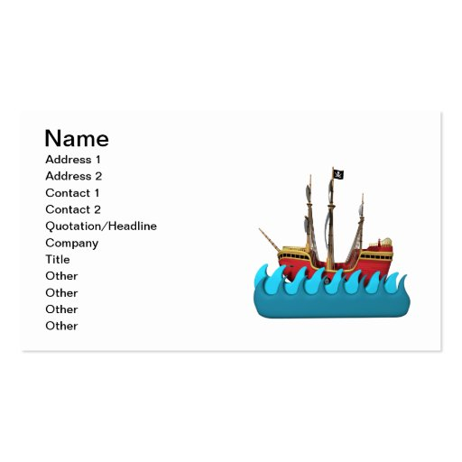Pirate Ship 2 Business Card