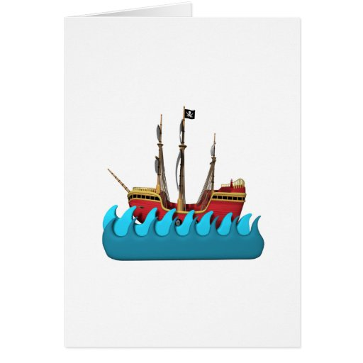 Pirate Ship 2 Cards