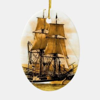 Pirate ship 2 Oval Ornament