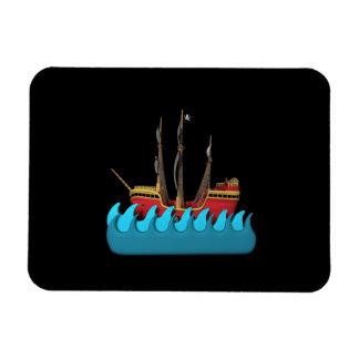 Pirate Ship 2 Vinyl Magnets