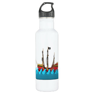 Pirate Ship 2 Stainless Steel Water Bottle