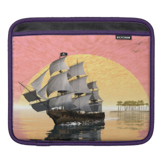 Pirate ship - 3D render Sleeve For iPads