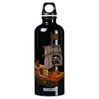 Pirate Ship Aluminum Water Bottle