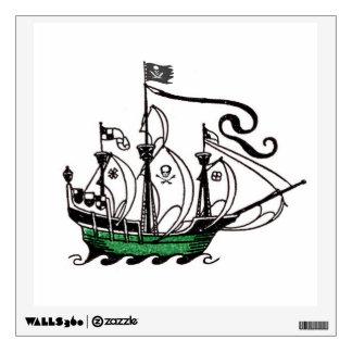 Pirate Ship At Sea Wall Sticker