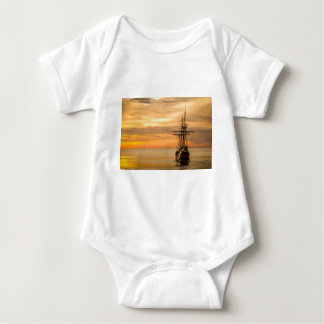 Pirate Ship At Sunset Infant Creeper