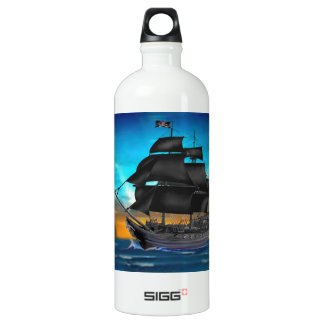 PIRATE SHIP AT SUNSET WATER BOTTLE