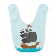 Pirate Ship Baby Bibs