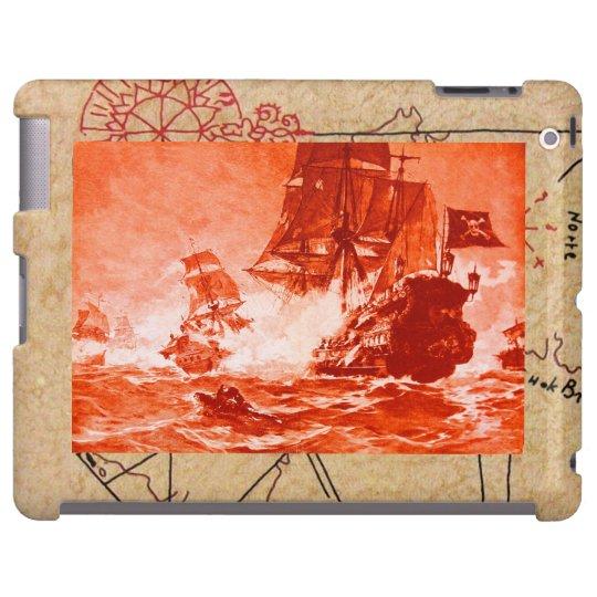 PIRATE SHIP BATTLE / ANTIQUE PIRATES TREASURE MAPS