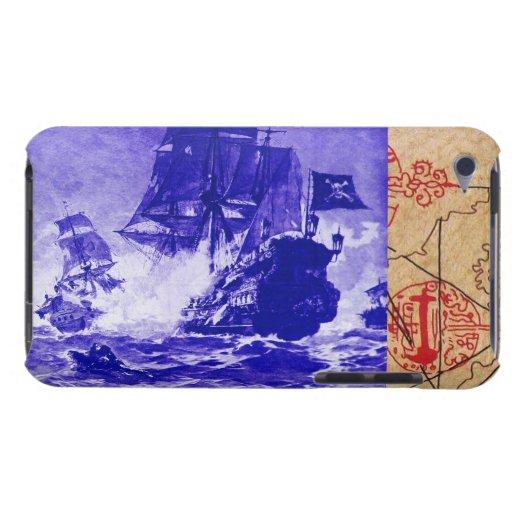 PIRATE SHIP BATTLE / ANTIQUE PIRATES TREASURE MAPS BARELY THERE iPod CASE