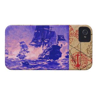 PIRATE SHIP BATTLE / ANTIQUE PIRATES TREASURE MAPS iPhone 4 Case-Mate CASES