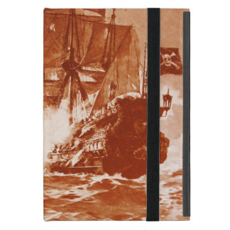 PIRATE SHIP BATTLE IN brown Cover For iPad Mini