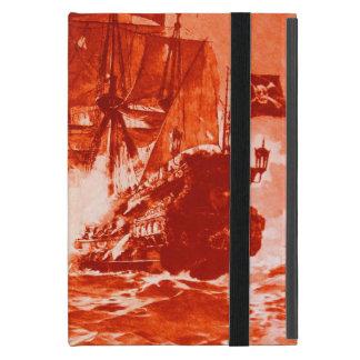 PIRATE SHIP BATTLE IN red iPad Mini Cover