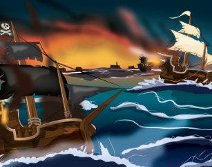 Pirate Ship Battle Art & Wall Décor | Zazzle