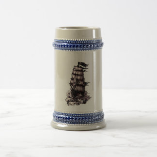 Pirate Ship Beer Stein
