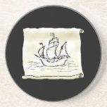 Pirate Ship. Beverage Coaster