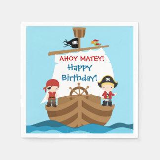 Pirate Ship Birthday Paper Napkins