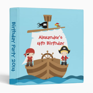 Pirate Ship Birthday Party Photo Album Binder
