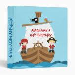 Pirate Ship Birthday Party Photo Album Vinyl Binders