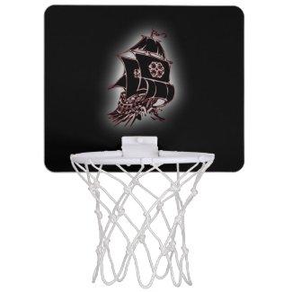 Pirate Ship Black Hoop Mini Basketball Hoops