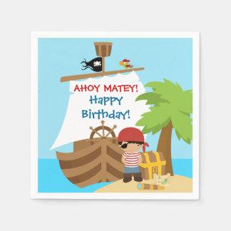 Pirate Ship Boy Birthday Paper Napkins