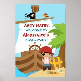 Pirate Ship Boy Birthday Party Poster